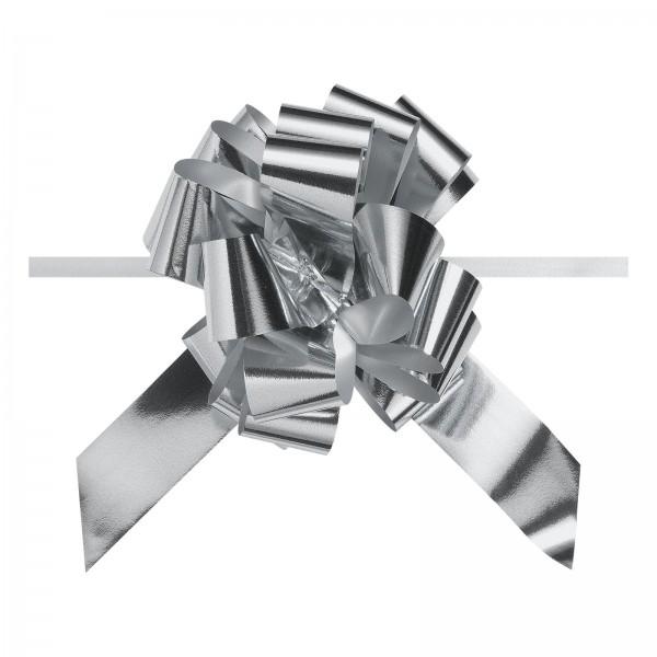 """Ziehschleife """"Granfiocco"""" Silber-Metallic"""