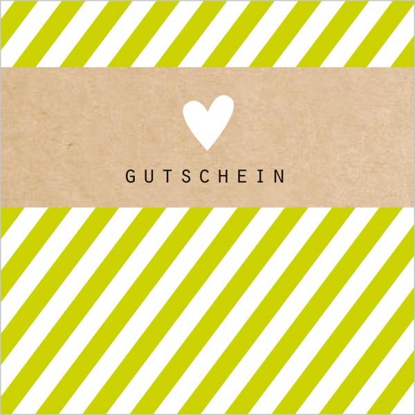 """Gutschein """"Herz"""" Grün"""