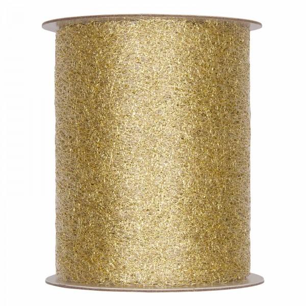 """Geschenkband """"Deko-Netz"""" Gold, 100mm x 20m"""