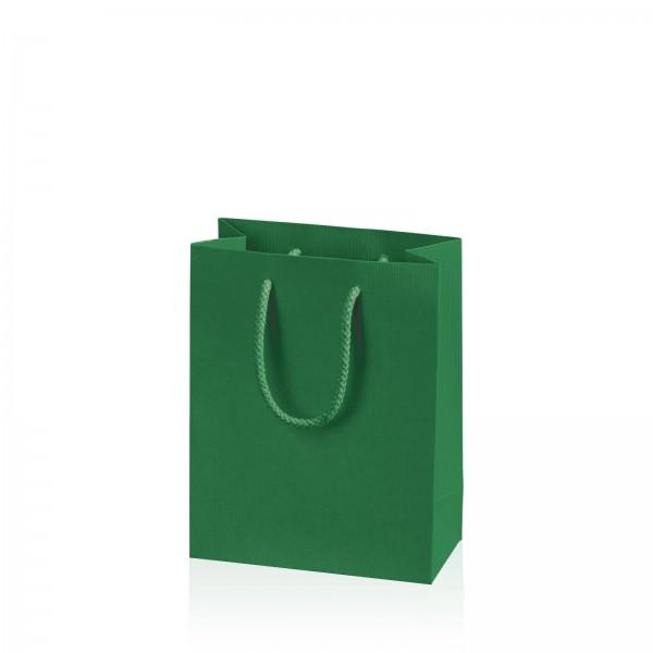 """Papiertragetasche """"Linea"""" Grün mit Streifenprägung BB"""
