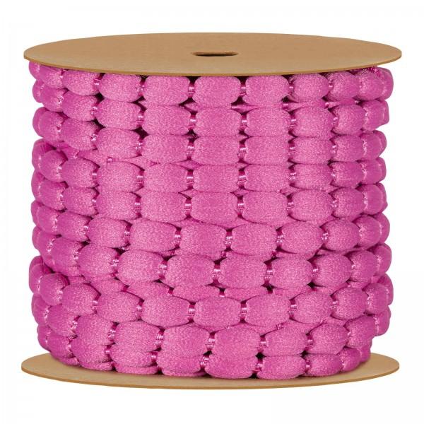 Pompon-Schnur, Pink, 8mm x 15m