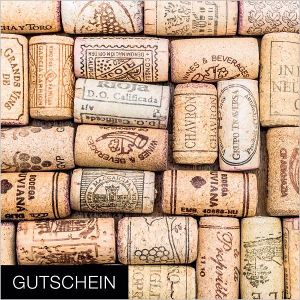 """Gutschein """"Korken"""", 120x120mm"""