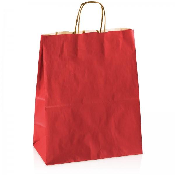 Einkaufstasche aus Kraftpapier Rot -groß-