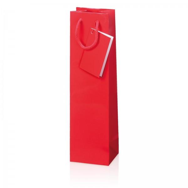 Papiertragetasche Rot Glanzlack 1er