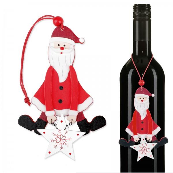 """Anhänger """"Weihnachtsmann"""" Rot/Weiß"""