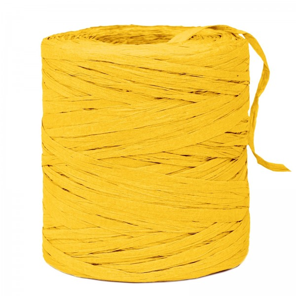 """Geschenkbast """"Paper-Raffia"""" Gelb, 5mm x 200m"""