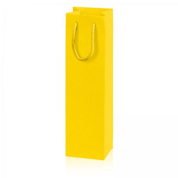 """Papiertragetasche """"Linea"""" Gelb mit Streifenprägung 1er"""