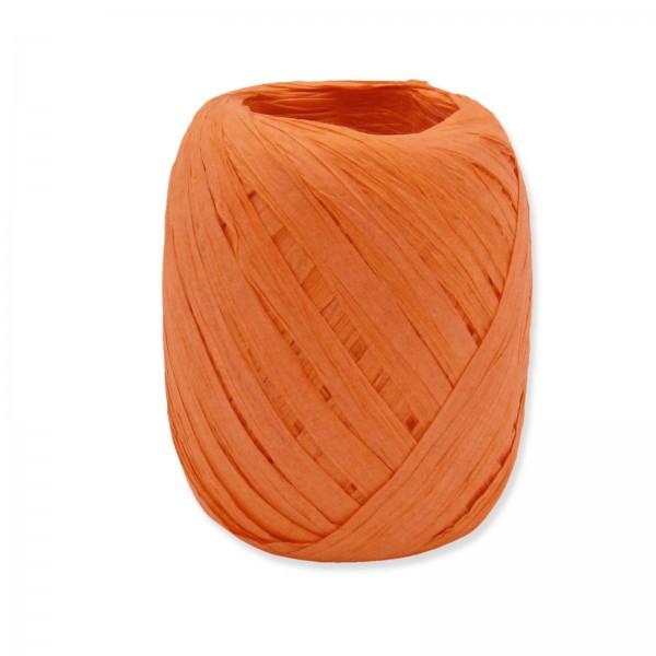 """Geschenkband """"Paper-Raffia"""" Orange 5mm x 50m"""