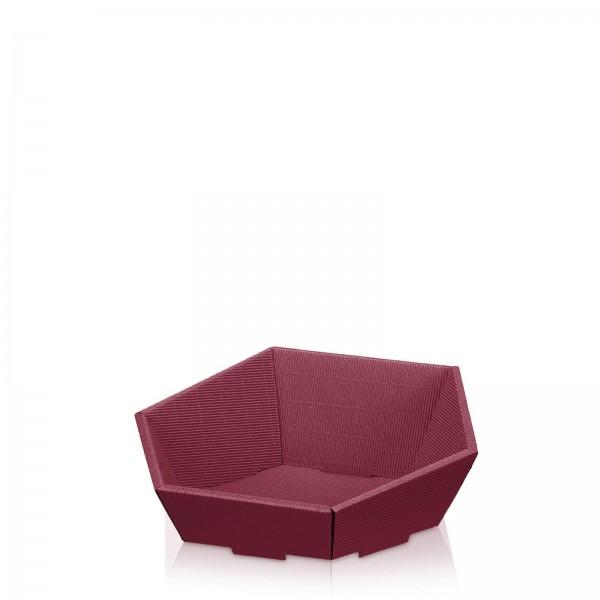 "Präsentkorb 6-eckig ""Modern Bordeaux"" -klein-"