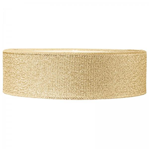 "Geschenkband ""Lurex"" Gold 25mm x 22m"