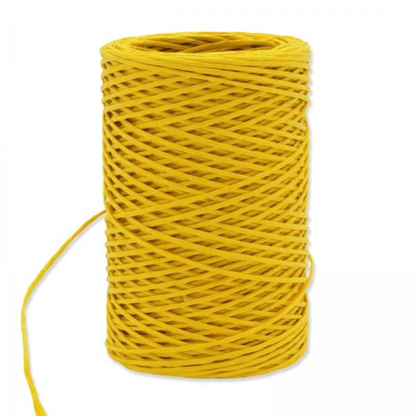 Papierkordel mit Draht Gelb, ø 2mm x 50m