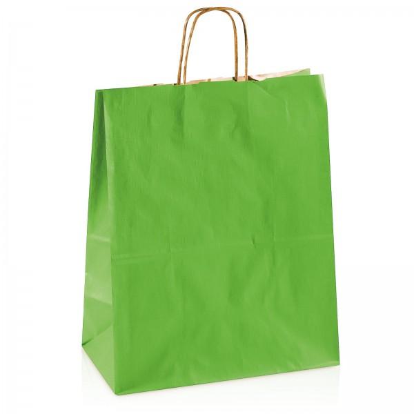 Einkaufstasche aus Kraftpapier Grün -groß-