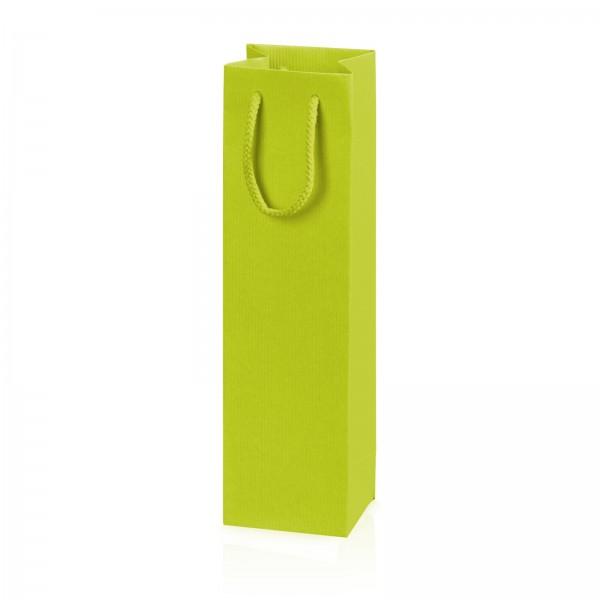 """Papiertragetasche """"Linea"""" Limette mit Streifenprägung 1er"""