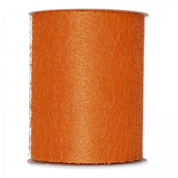 """Geschenkband """"Deko-Netz"""" Orange, 100mm x 20m"""