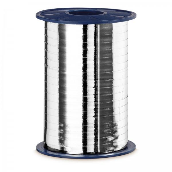 """Geschenkband """"Ringelband Metallic-Silber"""" 5mm x 400m"""