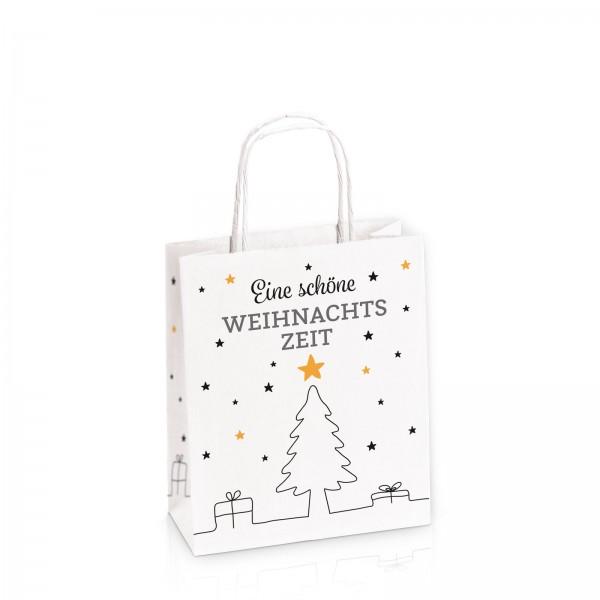 """Einkaufstasche aus Kraftpapier """"Weihnachtszeit"""" -S-"""