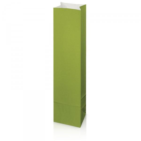 Flaschenbeutel aus Kraftpapier Grün Wein/Sekt