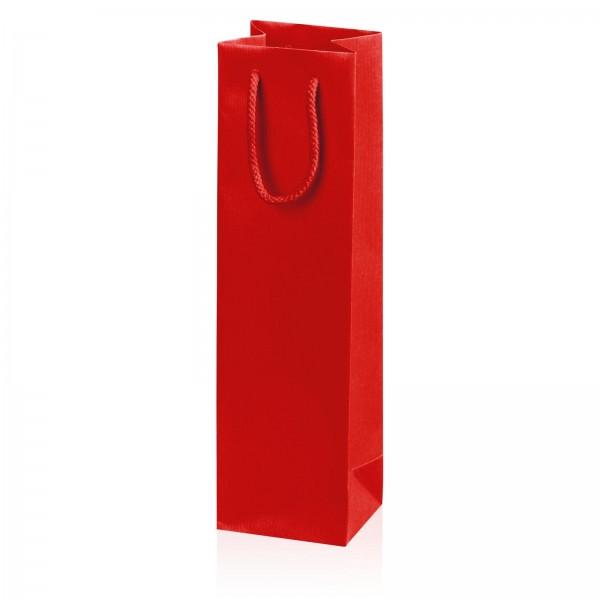 """Papiertragetasche """"Linea"""" Rot mit Streifenprägung 1er"""