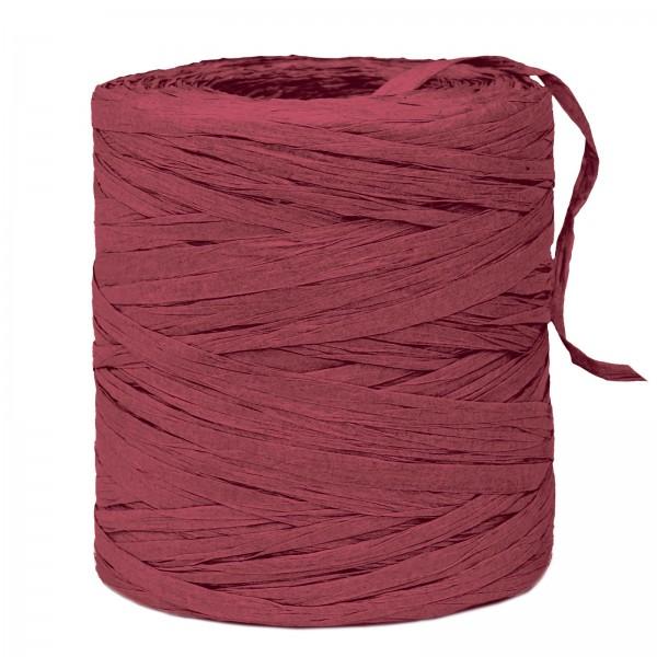 "Geschenkbast ""Paper-Raffia"" Bordeaux, 5mm x 200m"
