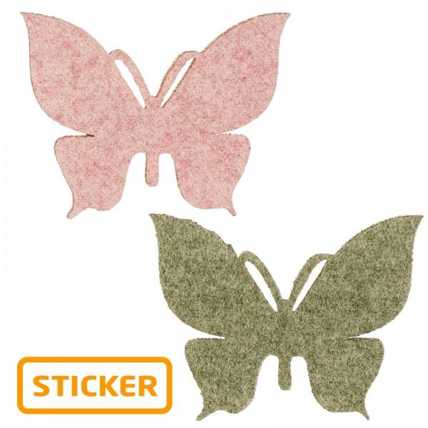 """Sticker """"Schmetterling Wollart"""" sortiert"""