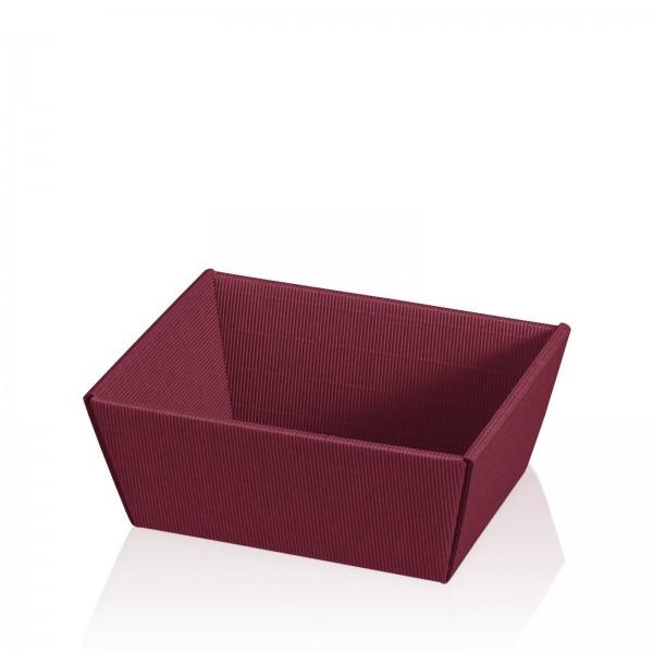 "Präsentkorb 4-eckig ""Modern Bordeaux"" -klein-"