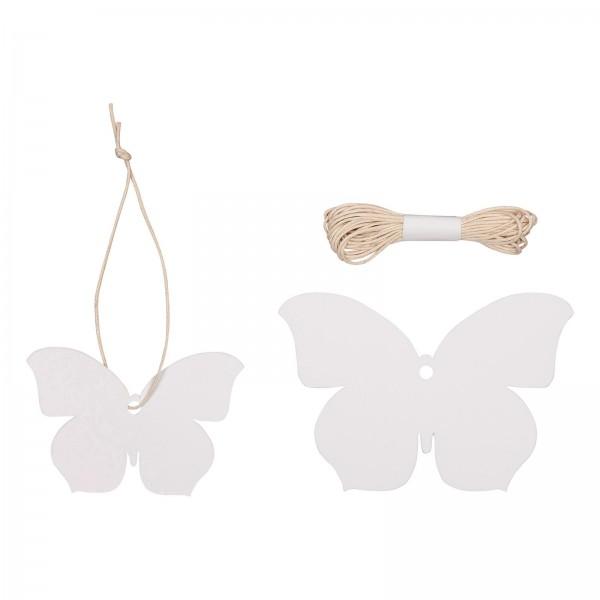 """Papier-Hänger """"Schmetterling"""" Weiß sortiert"""