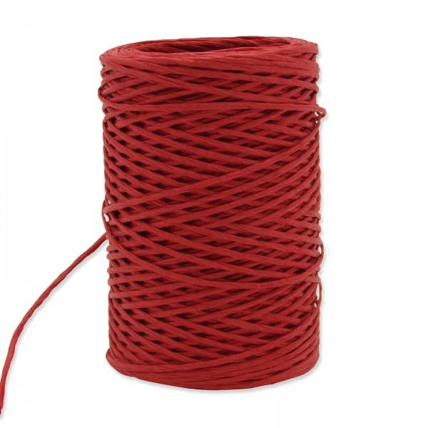Papierkordel mit Draht Rot, ø 2mm x 50m