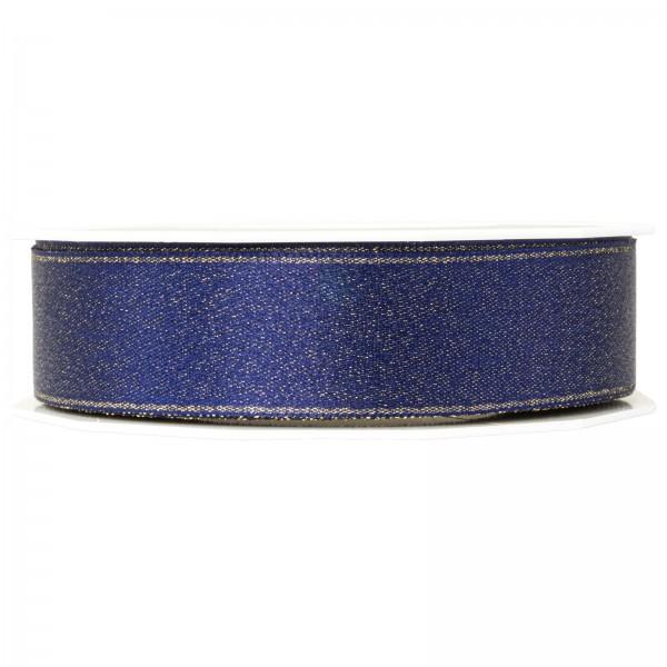 """Geschenkband """"Glitter Satin"""" Blau 25mm x 20m"""