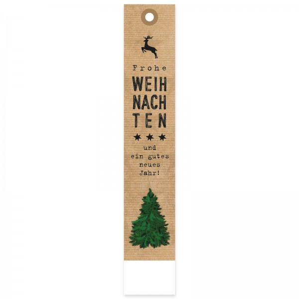 """Geschenkanhänger """"Weihnachten Natur mit Baum"""""""