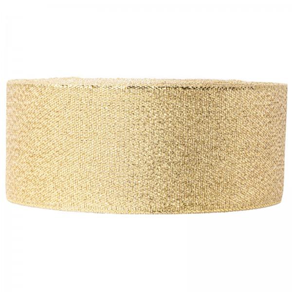 "Geschenkband ""Lurex"" Gold 40mm x 22m"