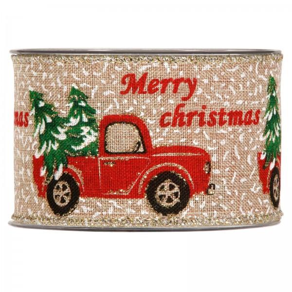 """Geschenkband """"Christmas Car"""" 63mm x 10m"""