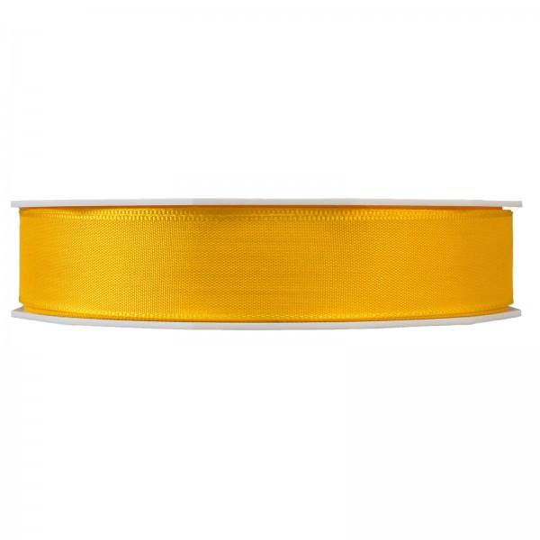 """Geschenkband """"Uni"""" Gelb 25mm x 50m"""