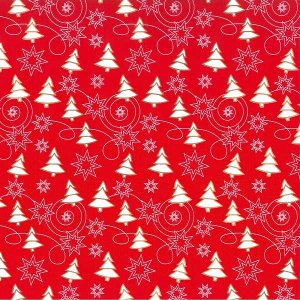 """Geschenkpapier """"Winter """" Rot-Weiß"""