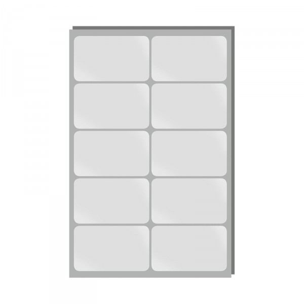 Verschluss-/Siegeletiketten 75x45mm, selbstklebend, 50 Stück / Pack