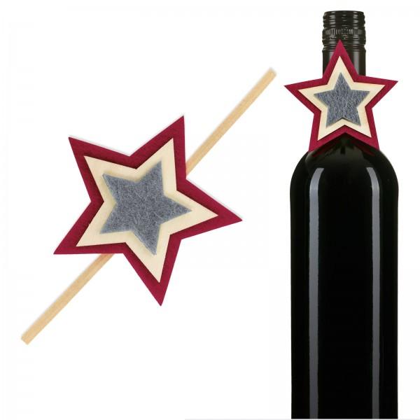 """Clip """"Norwegen"""" UNI Grau/Bordeaux"""