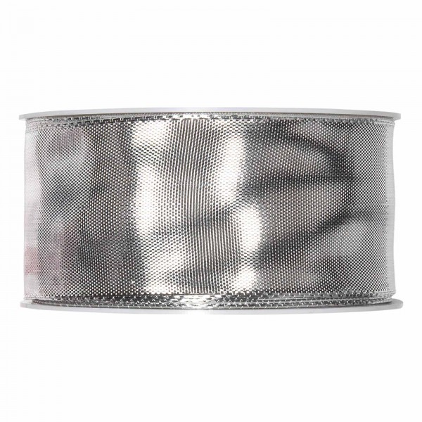 "Geschenkband ""Uni"" Silber-Metallic 40mm x 25m"