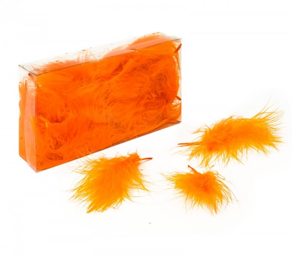 Marabufedern lose, 8g/Box (ca. 50 Stück), Orange