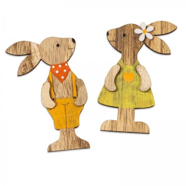 """Produktfoto Holzsticker """"Bunny"""""""