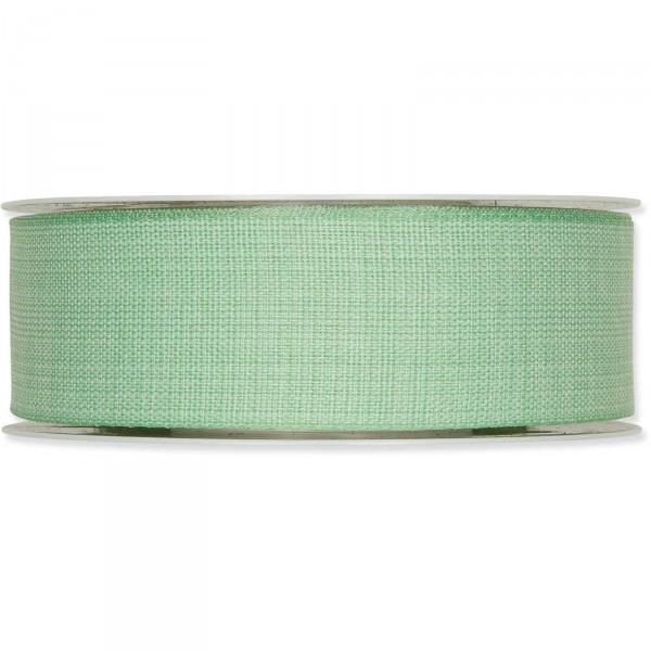 """Geschenkband """"Baumwoll-Optik"""" 40mm x 25m, Mint"""