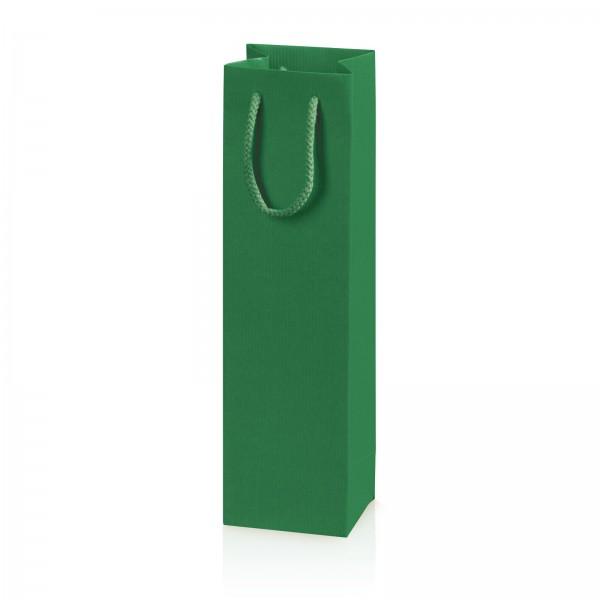 """Papiertragetasche """"Linea"""" Grün mit Streifenprägung 1er"""
