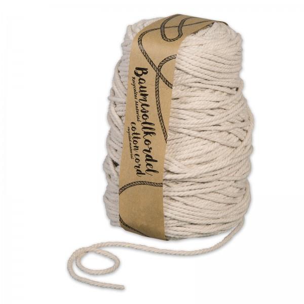 Baumwollkordel Natur, Ø 5mm x 80m
