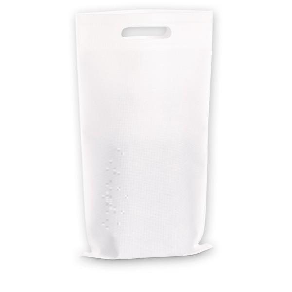 Einkaufstasche 2er Weiß aus Vlies (non-woven)