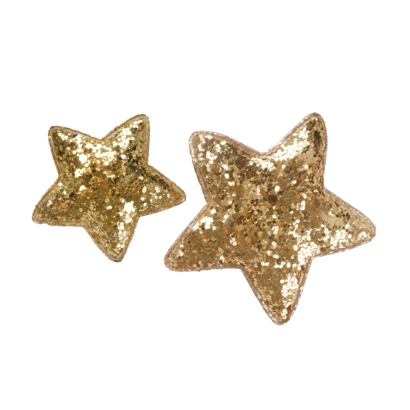 Stern glamour gold mit klebepunkt sort for Restposten dekoartikel