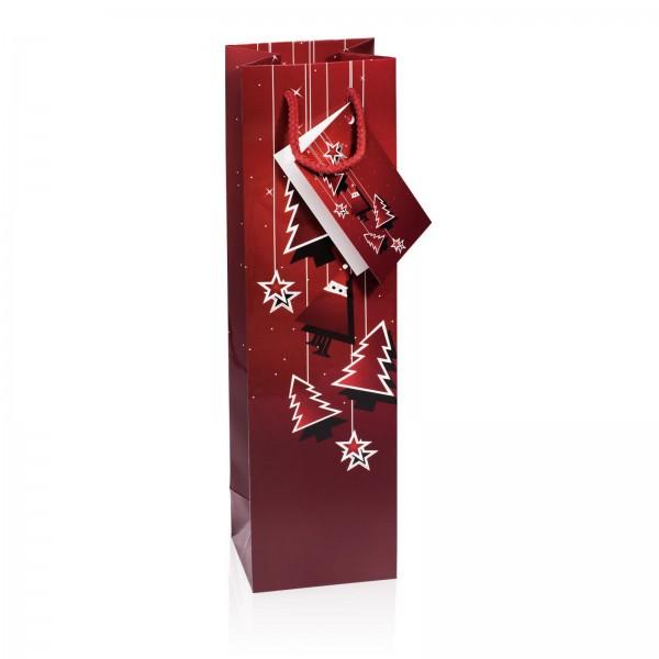 """Papiertragetasche """"Santa"""" Bordeaux Glanzlack 1er"""