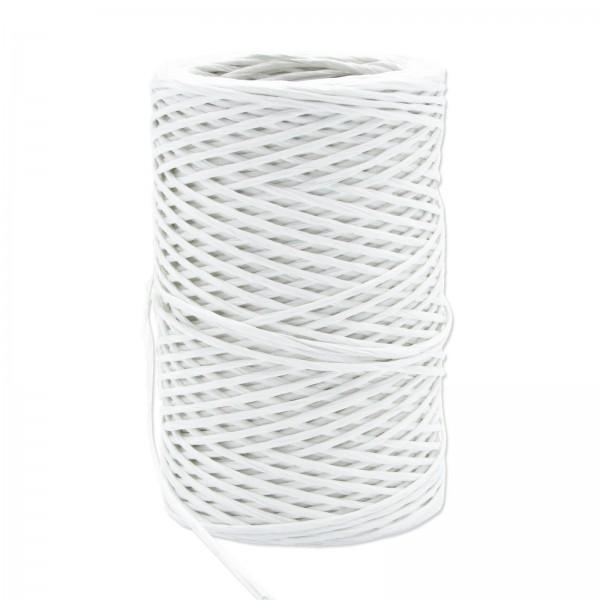 Papierkordel mit Draht Weiß, ø 2mm x 50m