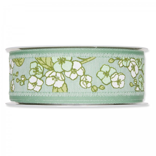 "Geschenkband ""Blumenranken"" Mint, 40mm x 18m"