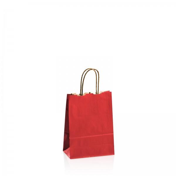 Einkaufstasche aus Kraftpapier Rot -klein-