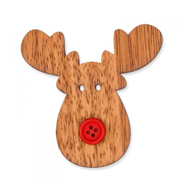elch aus holz mit klebepunkt braun rot weihnachtliche dekoartikel weihnachten neues. Black Bedroom Furniture Sets. Home Design Ideas