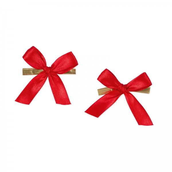 Fertigschleife mit Clip, Rot