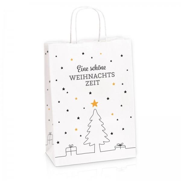 """Einkaufstasche aus Kraftpapier """"Weihnachtszeit"""" -M-"""